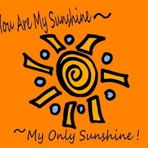 You Are My Sunshine orange