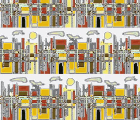 Morning In New York fabric by menny on Spoonflower - custom fabric