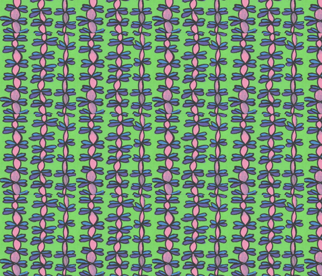 Pink Vines against Green fabric by kerrieabello on Spoonflower - custom fabric