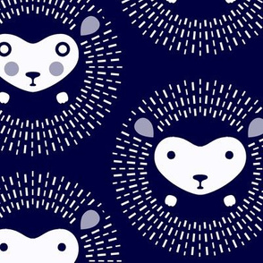 Hedgehog polka dot - indigo