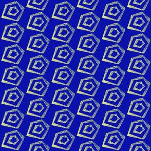 Block Print pentagon 1-navy