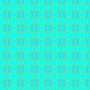 Block Print   sun rays 1  aqua green