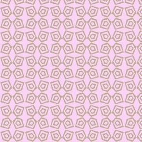 Block Print -pentagon pink