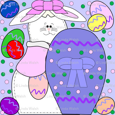 Bunny and Easter Eggs Fabric 2