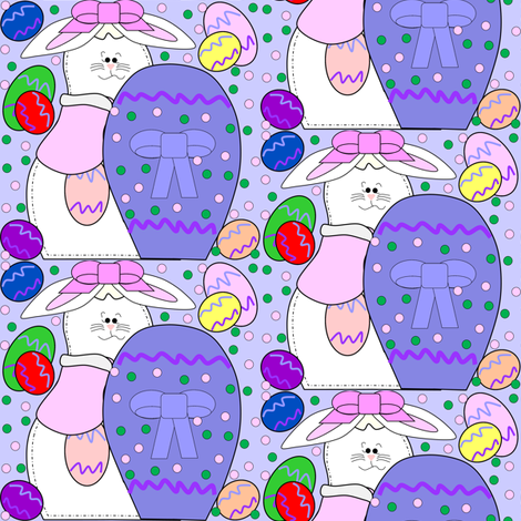 Bunny and Easter Eggs Fabric 2 fabric by lworiginals on Spoonflower - custom fabric