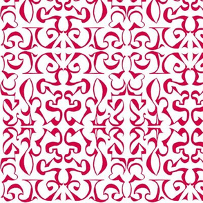 ARABESQUE Chinese Red on White