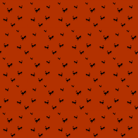 Rust rooster fabric by abbie0akley on Spoonflower - custom fabric