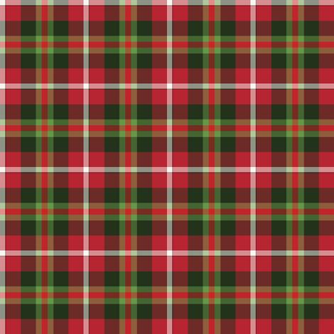 Christmas Tartan fabric by abbie0akley on Spoonflower - custom fabric