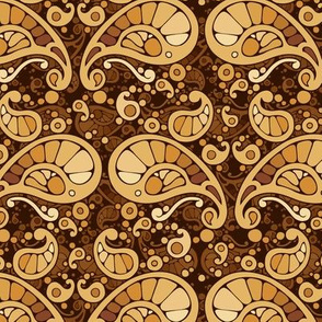 golden brown paisley