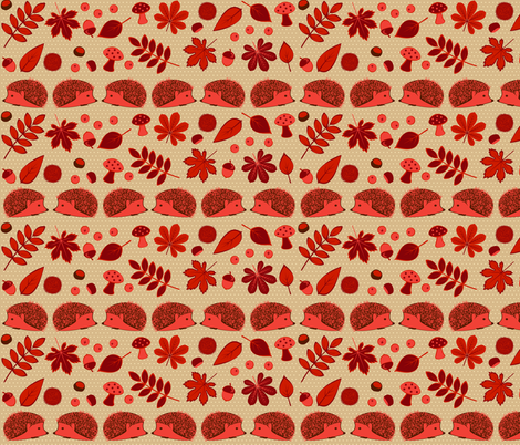 Autumn Red fabric by swissette on Spoonflower - custom fabric