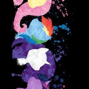Watercolor ponies