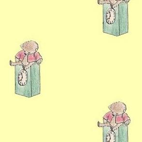 Sweet yellow teddy bears