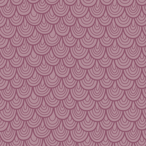 L'Amour Toujours Purple Scallops fabric by zesti on Spoonflower - custom fabric