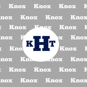 Name with Monogram YARD42- gray white navy  PERSONALIZED - Knox KHT
