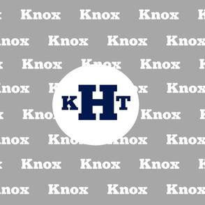 Name with Monogram YARD42- gray white navy  PERSONALIZED - Knox KHT