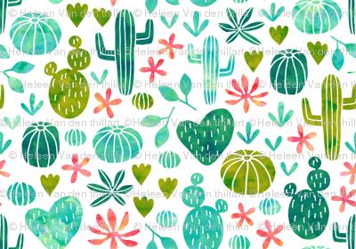Cacti in watercolor (mini)