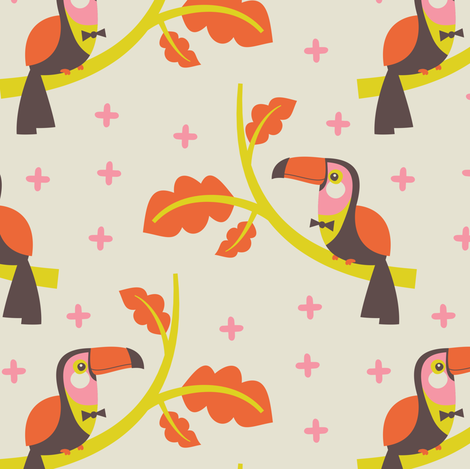 See You Later Toucans fabric by zesti on Spoonflower - custom fabric