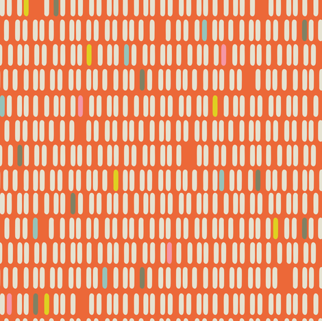 See You Later Orange Stripes fabric by zesti on Spoonflower - custom fabric