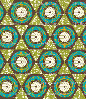 African Waxprint Green Teal