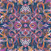 Vivid Celebration - a pattern in magenta, purple and orange