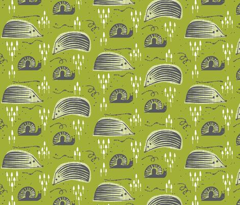 Hungry Hedgehog fabric by chris_jorge on Spoonflower - custom fabric