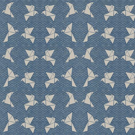 Japan Birds fabric by j___ on Spoonflower - custom fabric