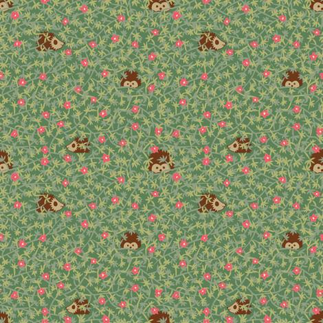 Hog the Hedge fabric by seesawboomerang on Spoonflower - custom fabric