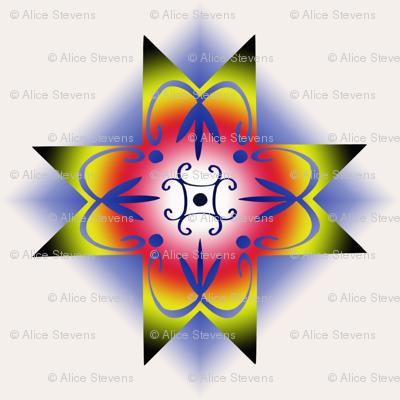 DoubleCurve8PointedStar-Gradient1