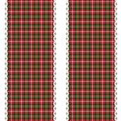 Christmas tartan ribbon stripe