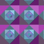Green, blue, purple squares mirror