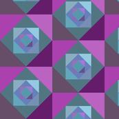 Green, blue, purple squares 1/2 drop