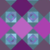 Green, blue, purple squares