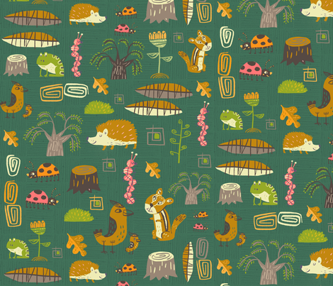 hedgies & co. fabric by skbird on Spoonflower - custom fabric