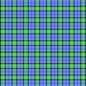 Pale Blue Green Plaid