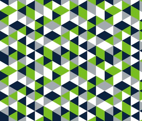 Geometric Seahawk Triangle  fabric by classycassie on Spoonflower - custom fabric