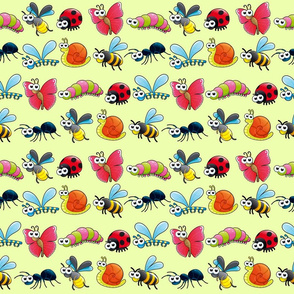 Funny insects with background