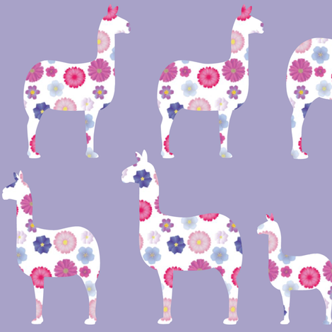 llamas among llamas fabric by artminx on Spoonflower - custom fabric