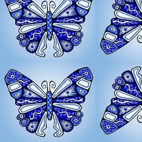 Blue China Butterflies