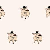cute piggy gentleman pattern