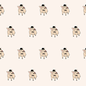 cute piggy gentleman pattern
