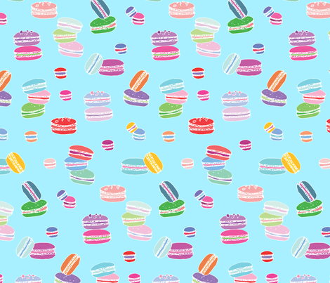 Macarons Blue fabric by emmakisstina on Spoonflower - custom fabric