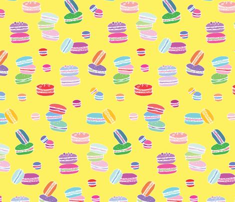 Macarons Yellow fabric by emmakisstina on Spoonflower - custom fabric