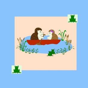 Hedgehog rowing swatch