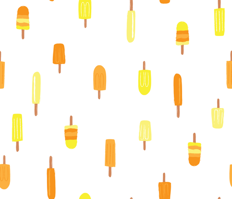 Summer Popsicles - Orange fabric by oliveandruby on Spoonflower - custom fabric