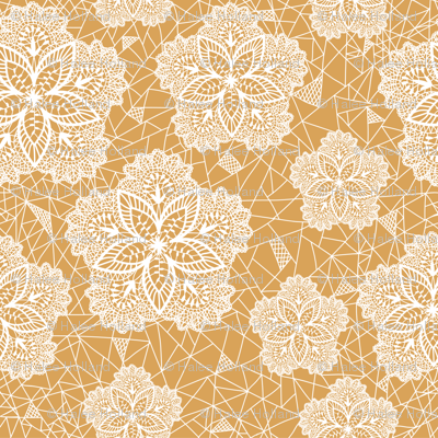 Yellow Flower Lace
