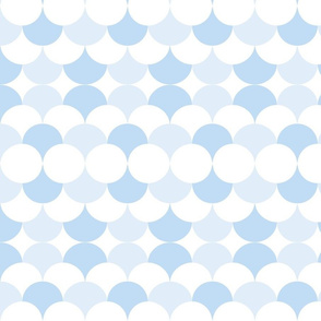 Scales and circles soft blue