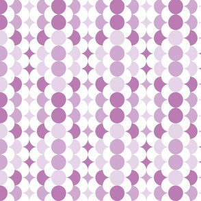 Scales and circles soft purple