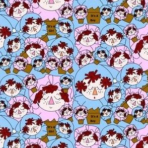Terra Cotta Baby Heads Fabric
