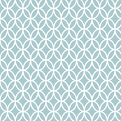 Geometric Circles - Dusty Blue