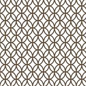 Geometric Circles - Brown